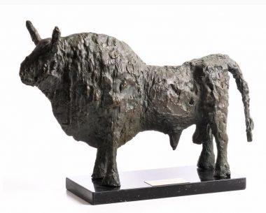 JOHN BEHAN RHA (B.1938) TITLE :Bronze Bull (1974)