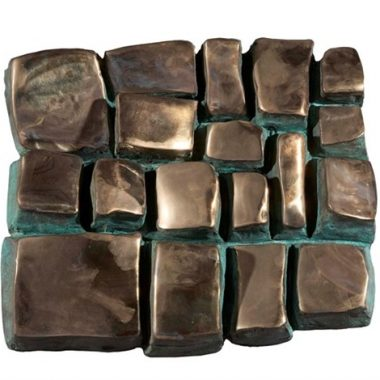 BLOCKS Medium: bronze Size: 49.5 x 30 cm. (19.5 x 11.8 in.)