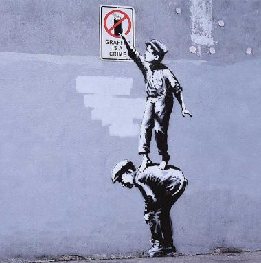 GRAFFITI IS A CRIME' BY BANKSY