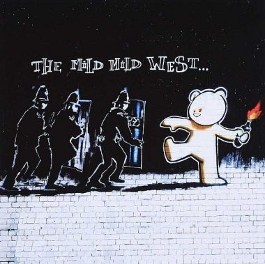 THE MILD MILD WEST' BY BANKSY
