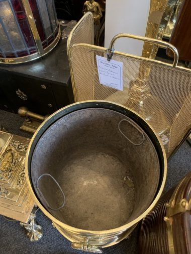 Brass Coal Bucket C1880