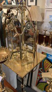 A Brass 19th Century brass lantern