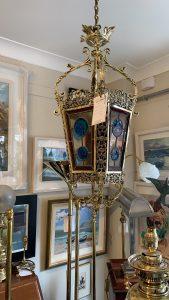 A Brass 19thc lantern