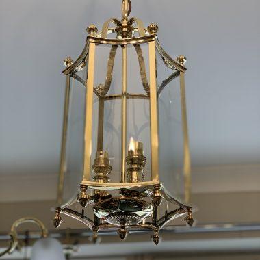 A Brass shaped lantern