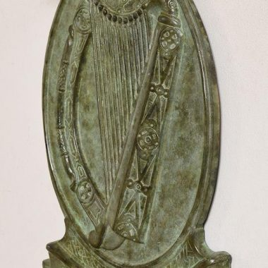 20TH CENTURY IRISH SCHOOLTITLE:Irish Harp - EireMEDIUM:bronzeSIZE:53 x 40½ x 4cm (21 x 16 x 2in)