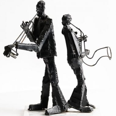 John Behan Bronze & Steel'Musical Duette'
