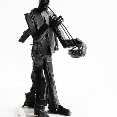 John Behan Bronze & Steel'Musical Duette'