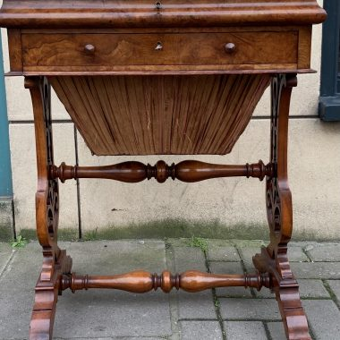 Victorian Walnut Work Writing Sewing Table